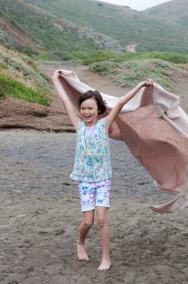Zoe at Beach with blanket3