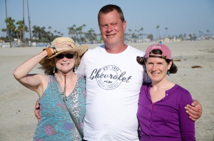 Ginio, Josh and Lily in Long Beach